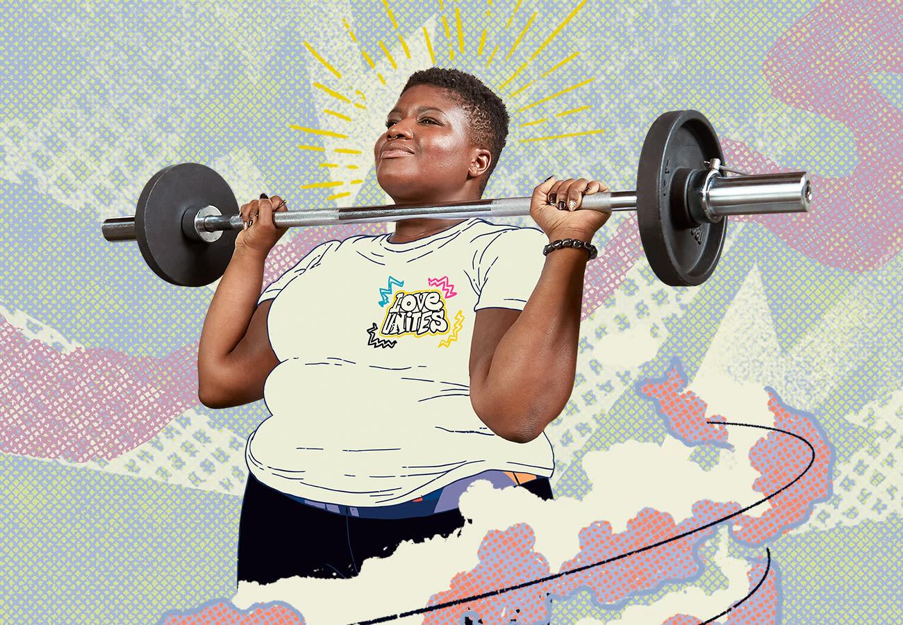 Jessamyn weightlifting.