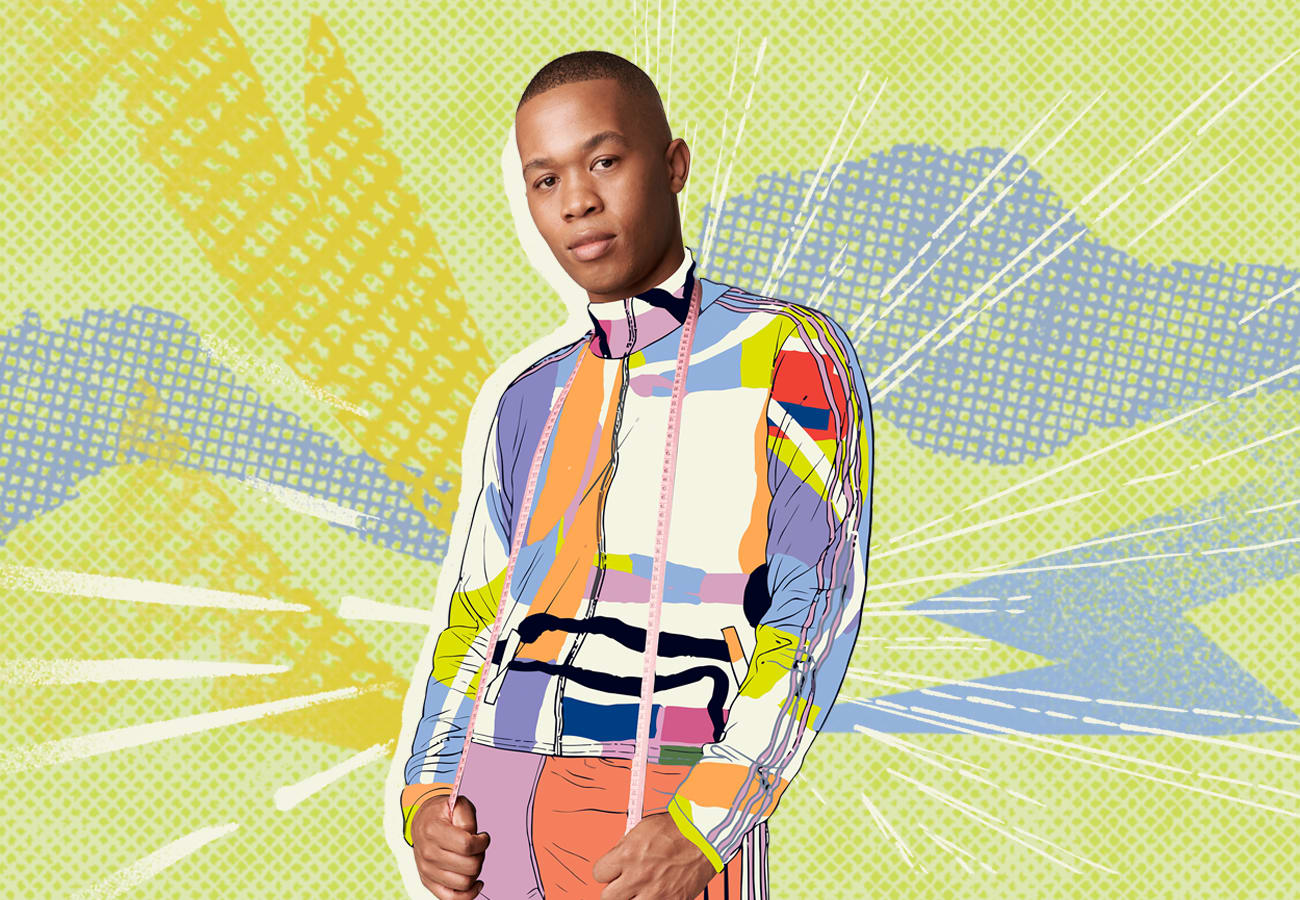 Thebe posing with hands in pockets.