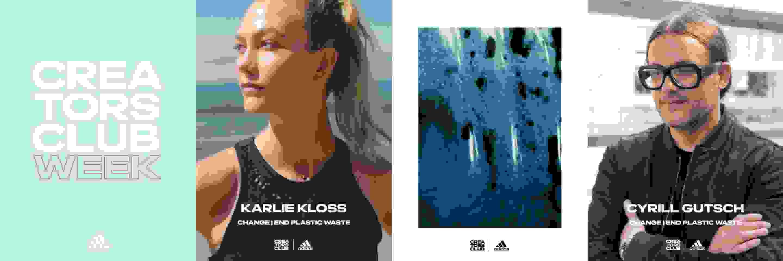 Entrepreneur Karlie Kloss, Run for the oceans founder and CEO Cyrill Gutsch, Creators Club Week Logo