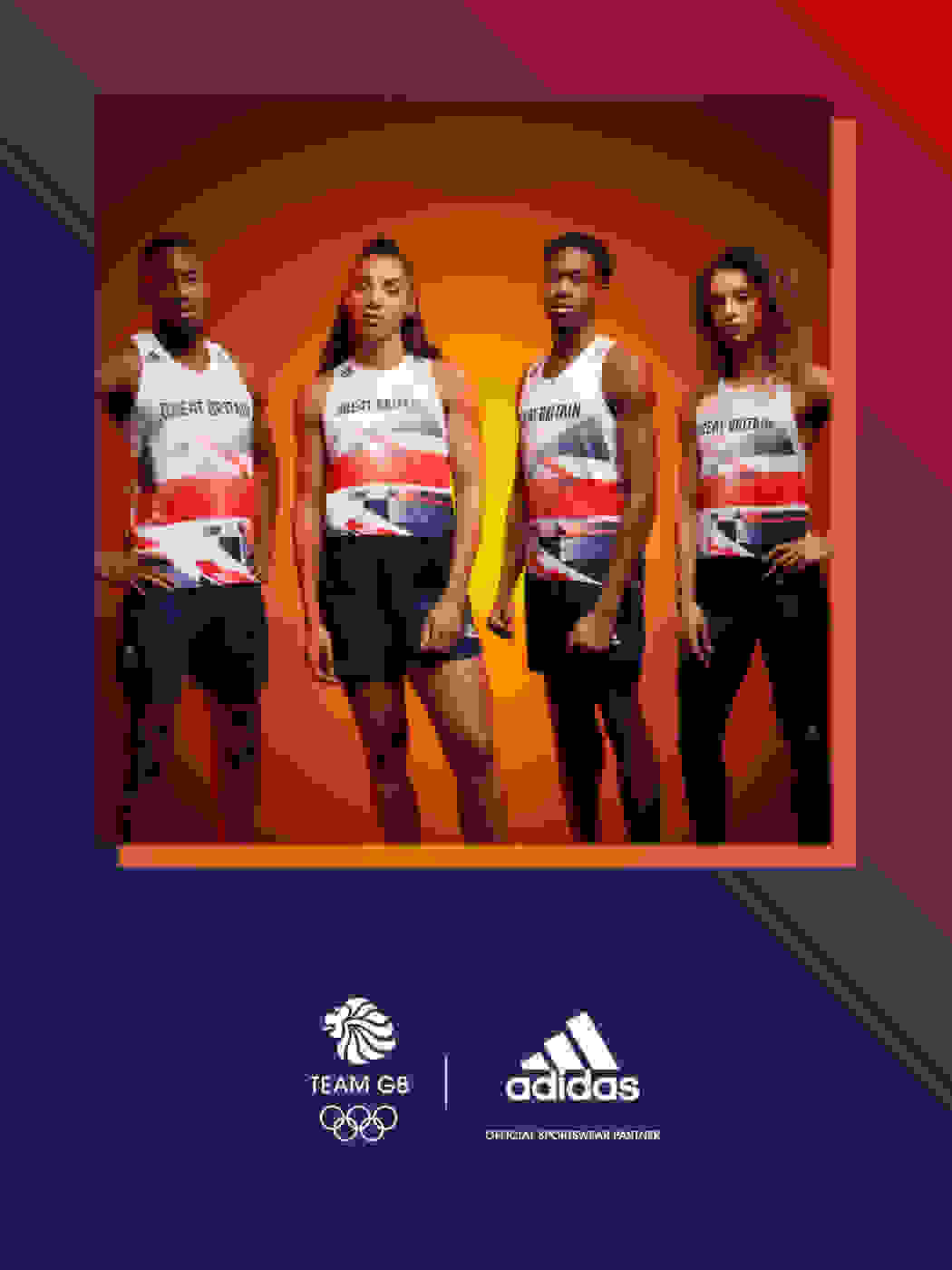 Close-up image of adidas Team GB kit zip jumper.