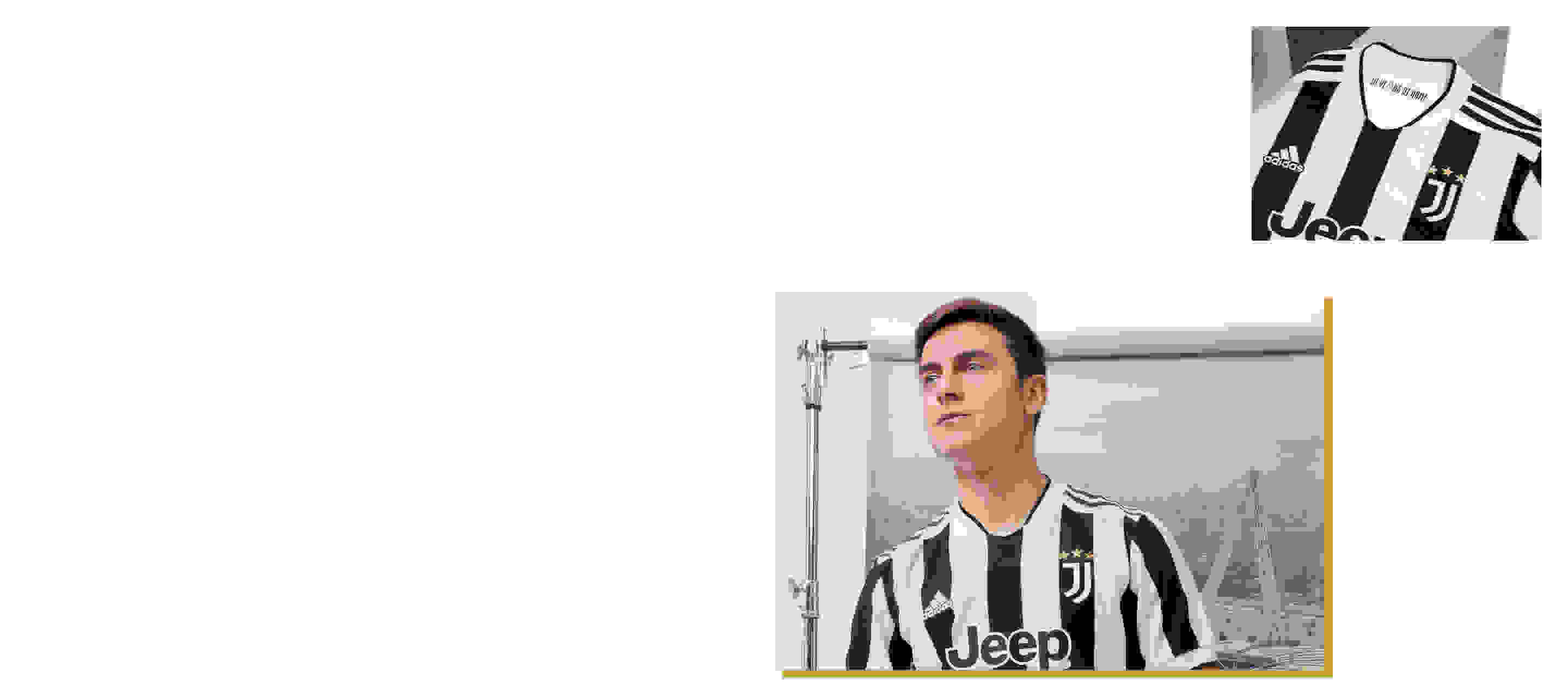 Male Player wearing Juventus Home Jersey and Visual featuring Juventus Home Jersey