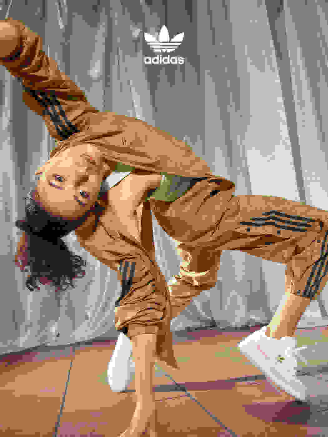 Lucia Leonce shows off her moves while breakdancing.