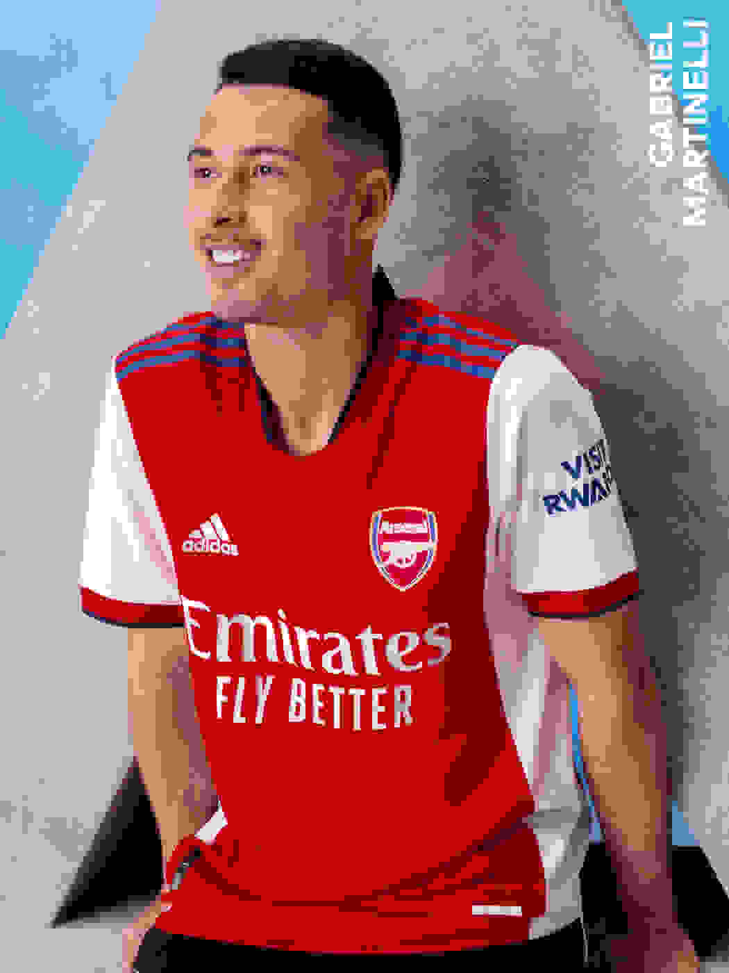 Male player wearing Arsenal Home Jersey