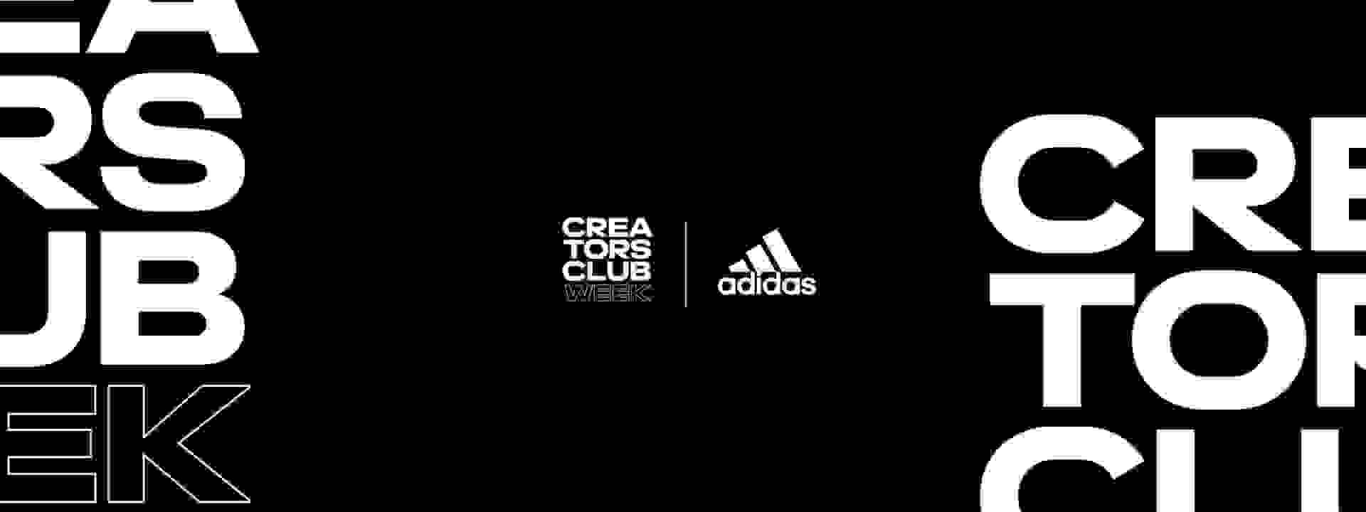 Creatos Club Week Logo on black background.