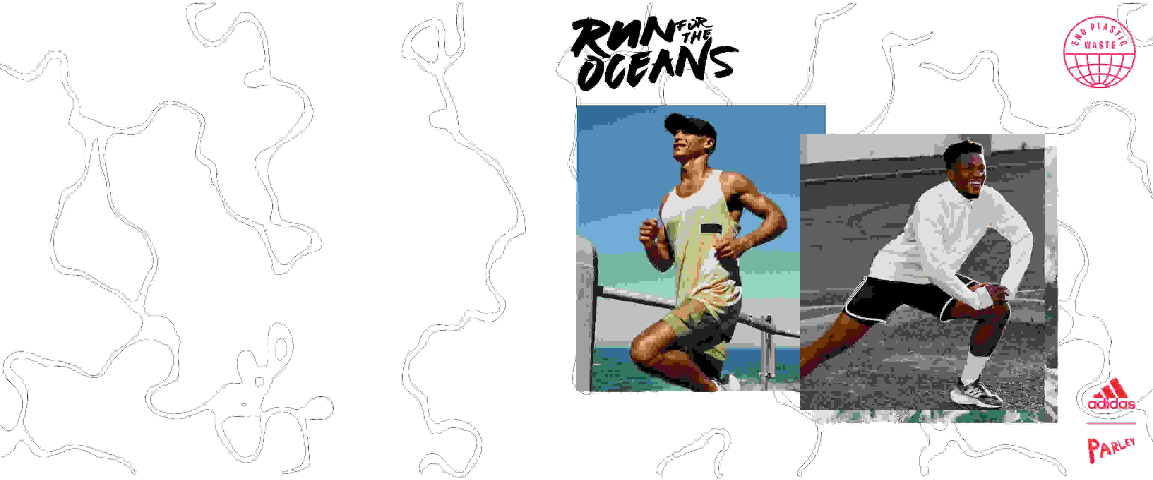 Men are warming up to get ready for Run For The Oceans