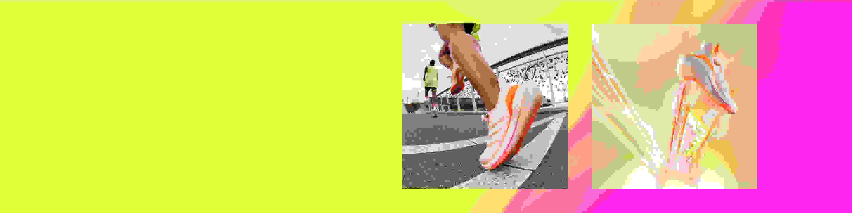 Group of people running with incredible energy return while wearing the new Ultraboost 21 running shoe.