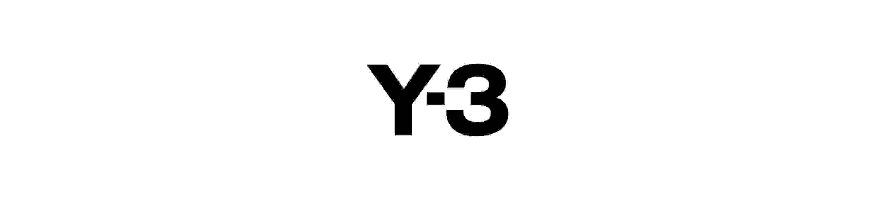 The black Y-3 logo on a white background.