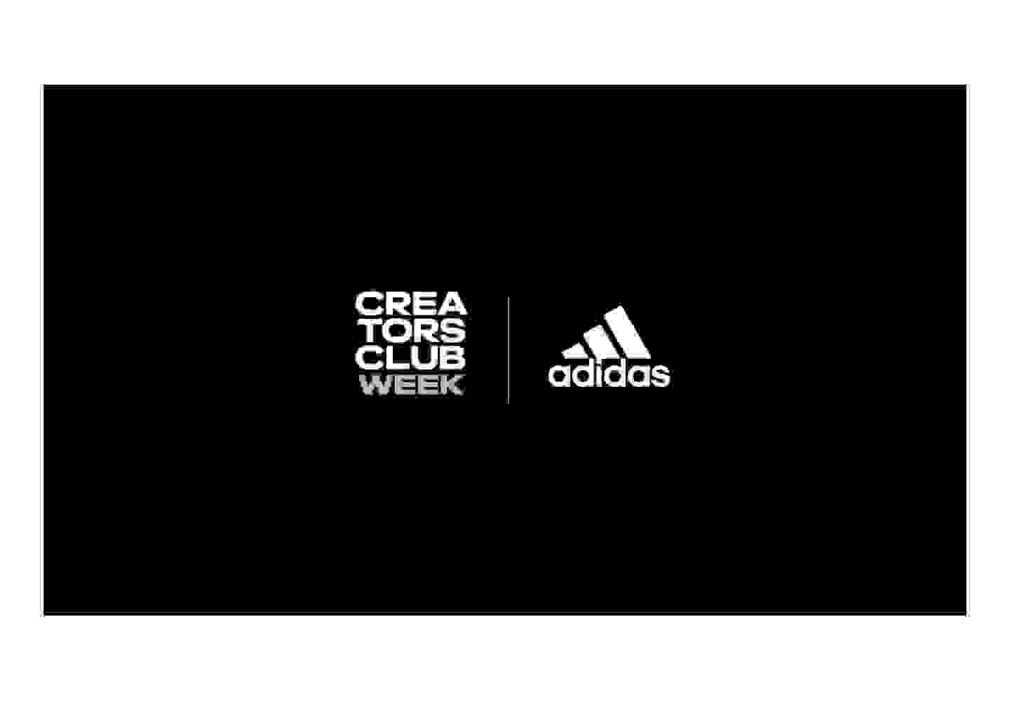 Adidas and Creators Club Week Logos