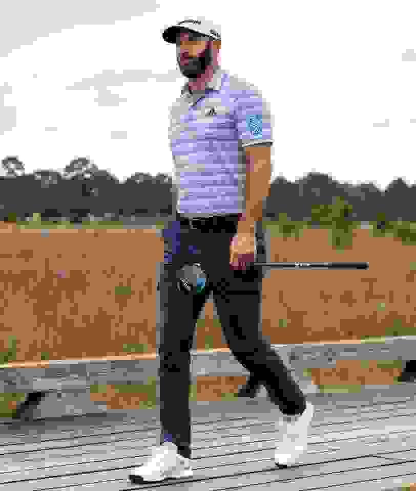 close-up of men's golf apparel