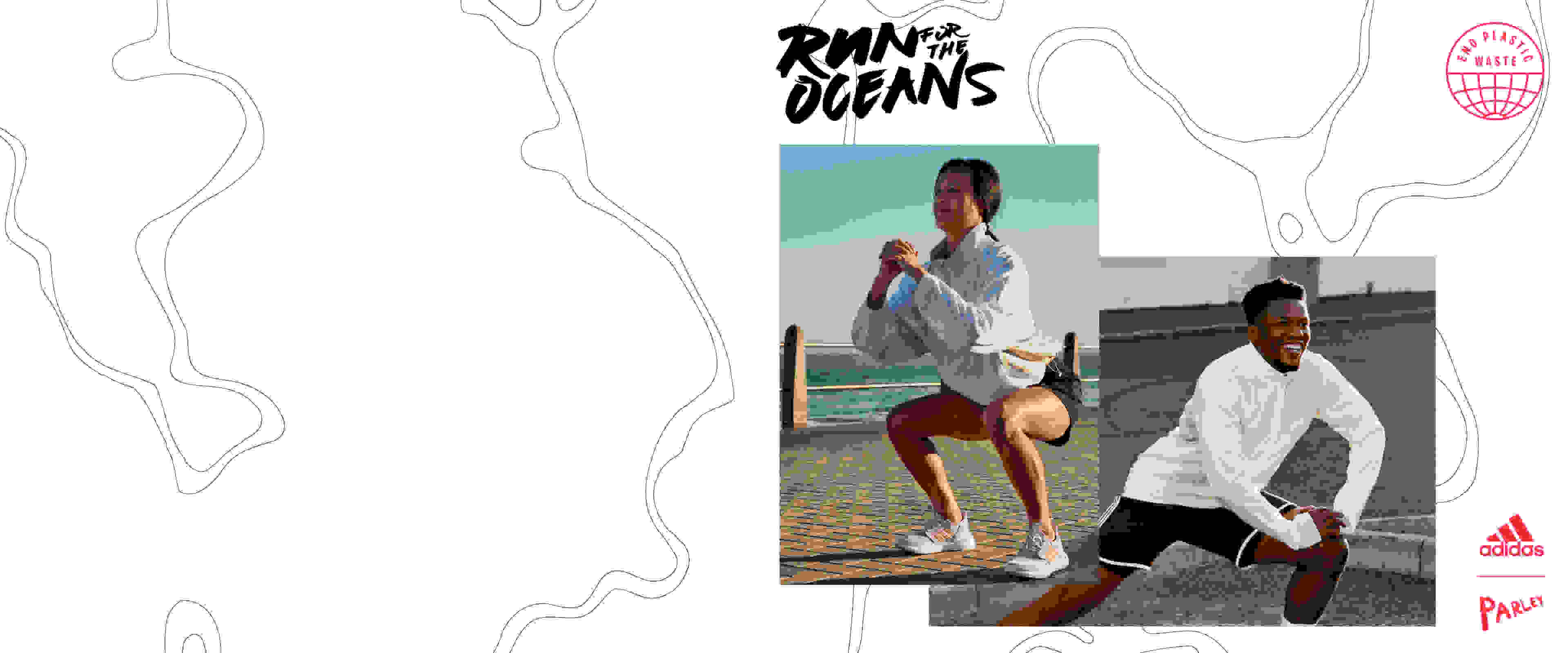 Men and women are warming up to get ready for Run For The Oceans.