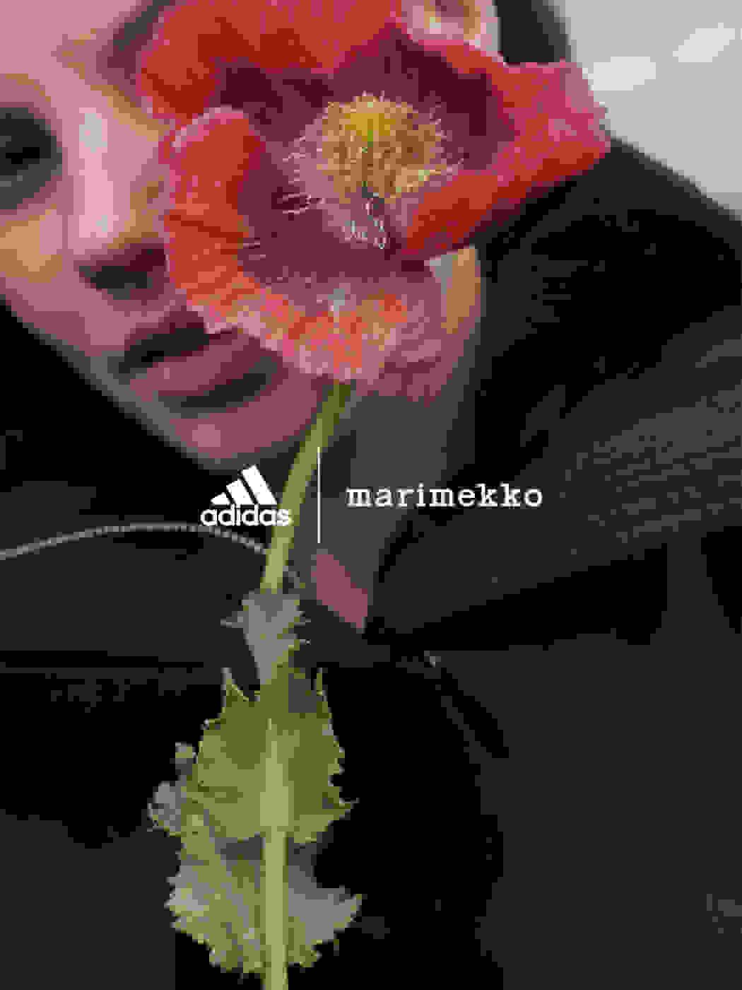 Female wearing Marimekko Jacket