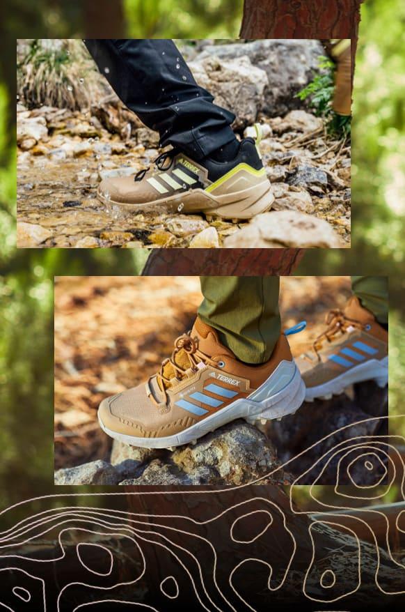 Men Women Hiking-Shoe Close-up-shot adidas Terrex SWIFT R3