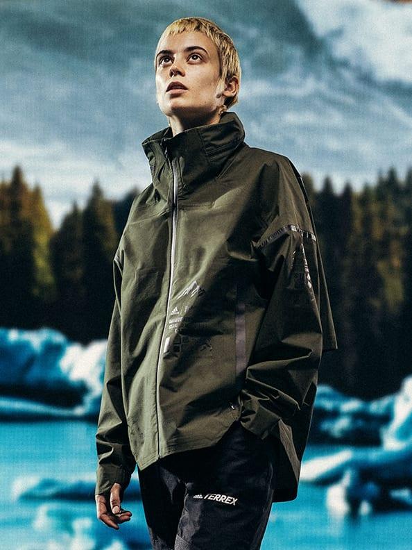 Female model in adidas x Parley apparel