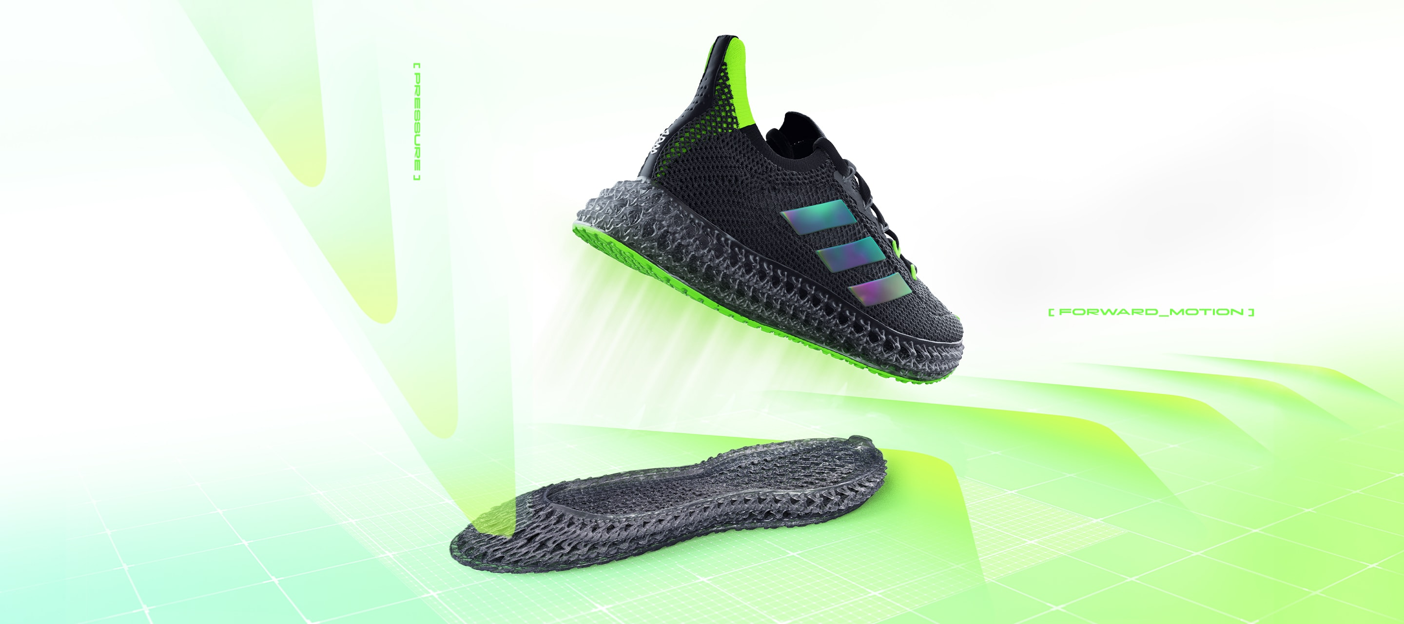 Video explaining the design and technology behind the new adidas 4DFWD running shoe.