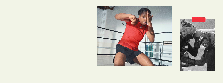 An image showing Caroline Dubois shadow boxing