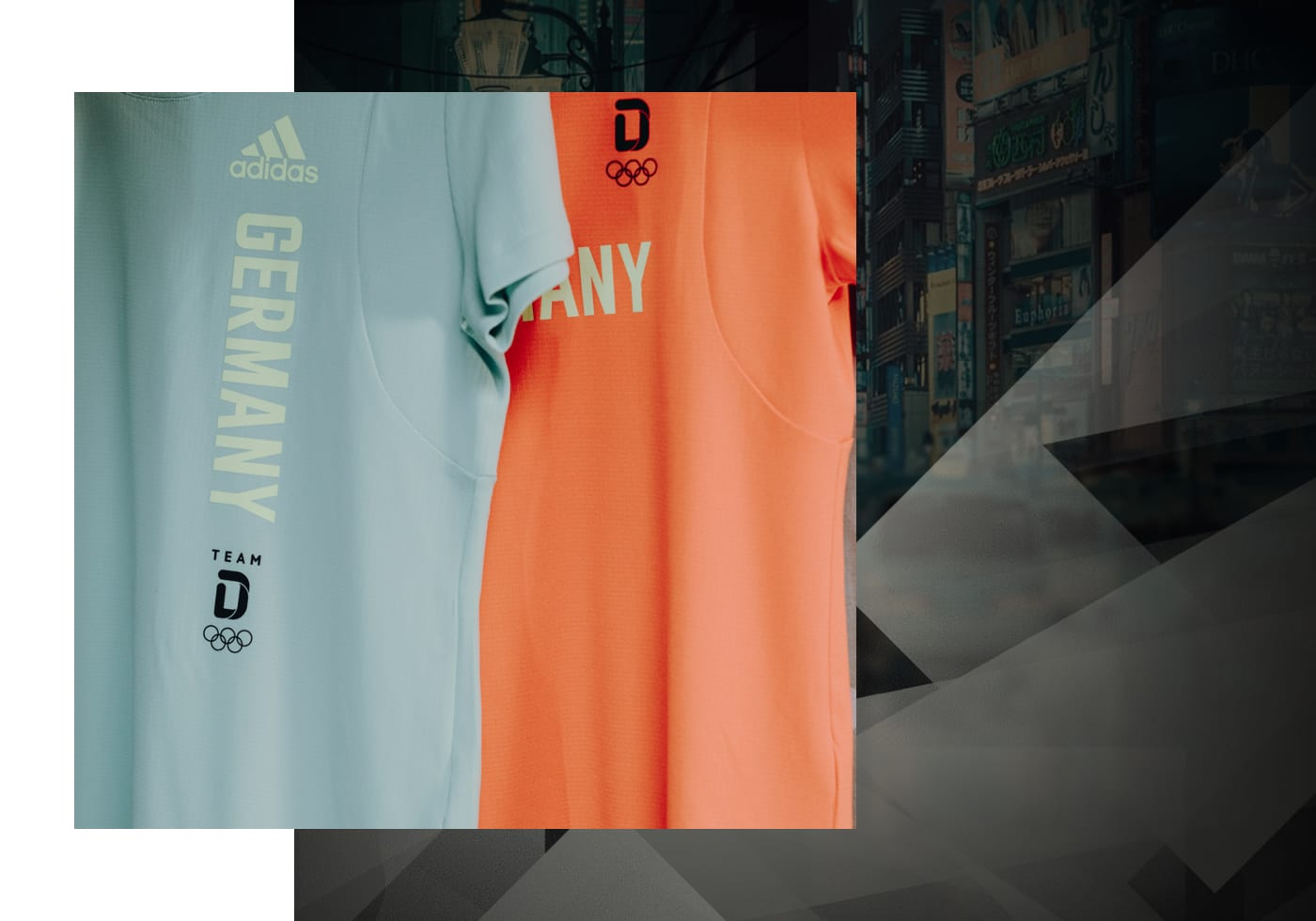 Close-up image of adidas Team D kit with eagle head motif.