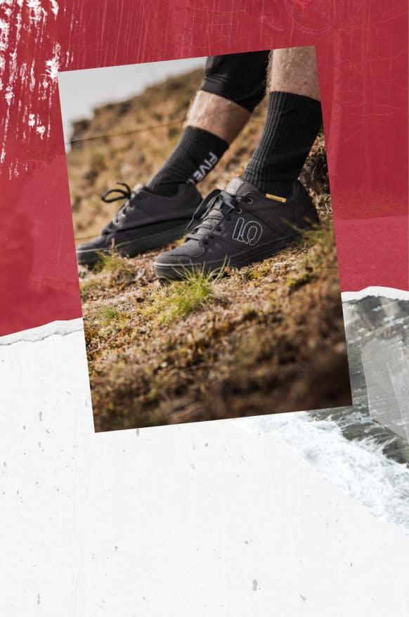 Picture of the Ten Five Ten climbing shoes.