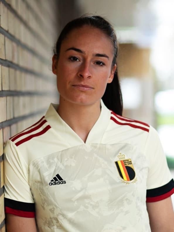 The new Belgium Away jersey detail shot.