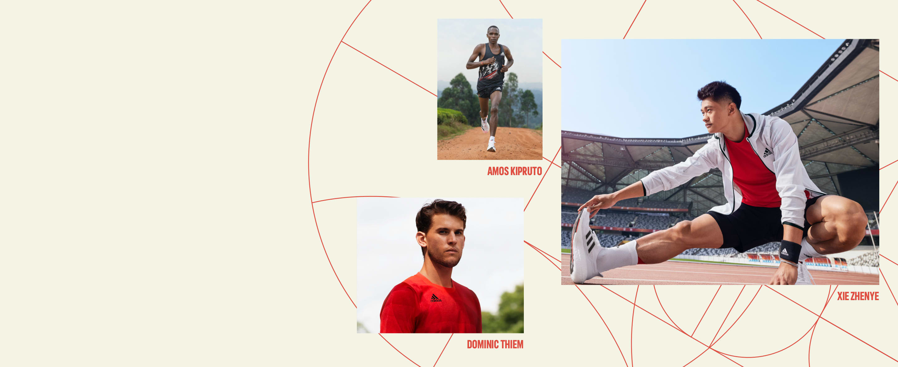 Hifumi Abe, Noah Lyles and Xie Zhenye wear the Tokyo Collection