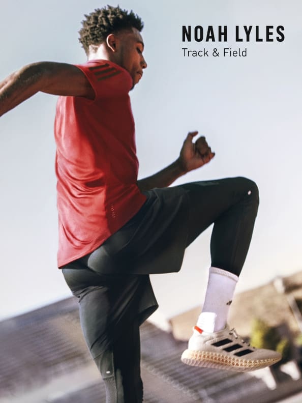 Man working out while wearing the new adidas 4DFWD running shoe.