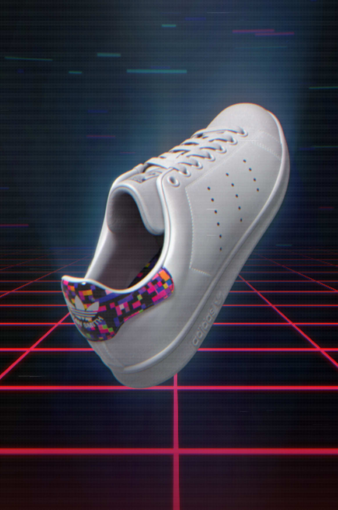 adidas Stan Smith in video-game setting.