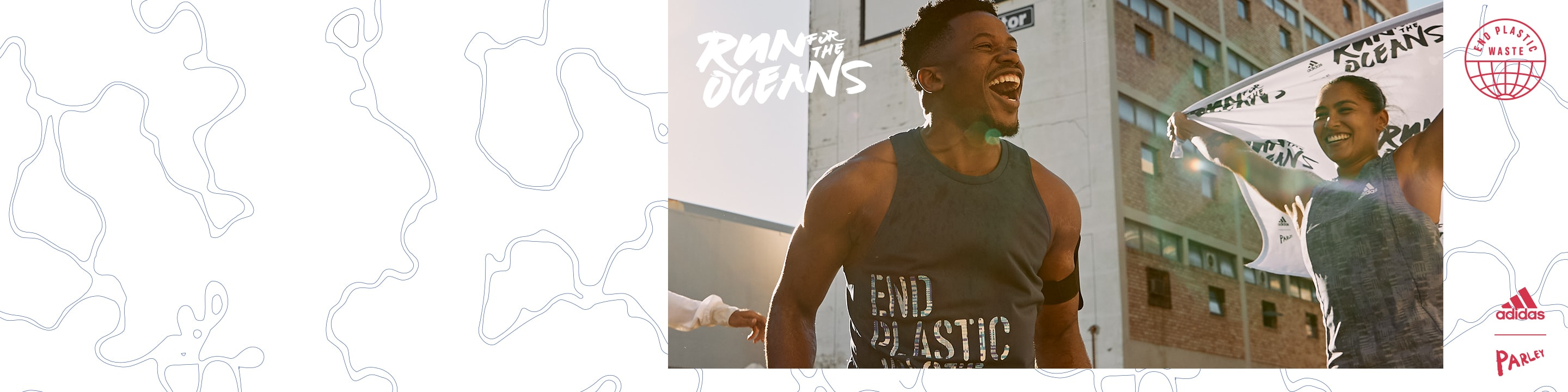 Men and women are warming up to get ready for Run For The Oceans