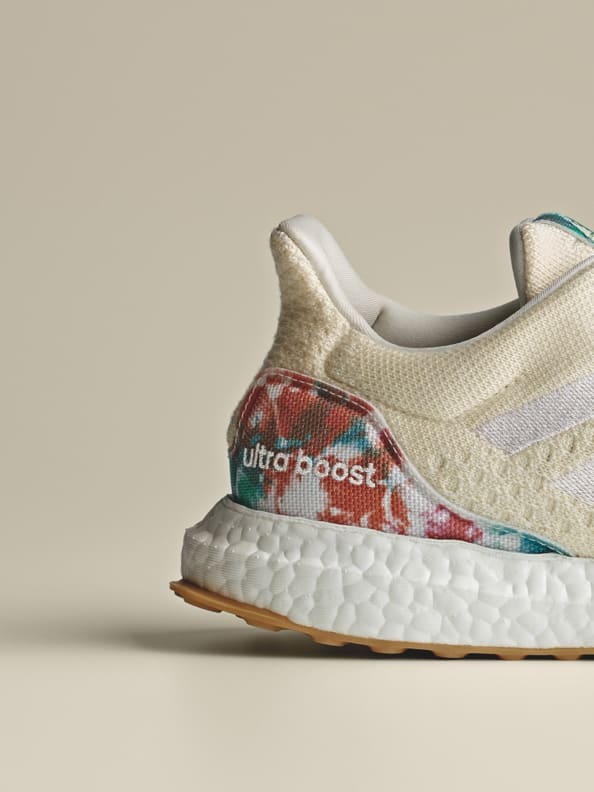 Side image of the new Ultraboost Uncaged Made with Nature Lab. Designing in balance with the planet. adidas FW21