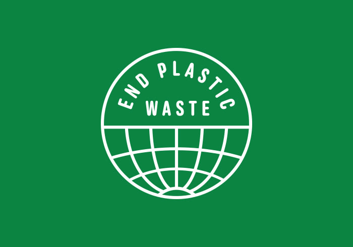 The Adidas logo and the Adidas End Plastic Waste logo.