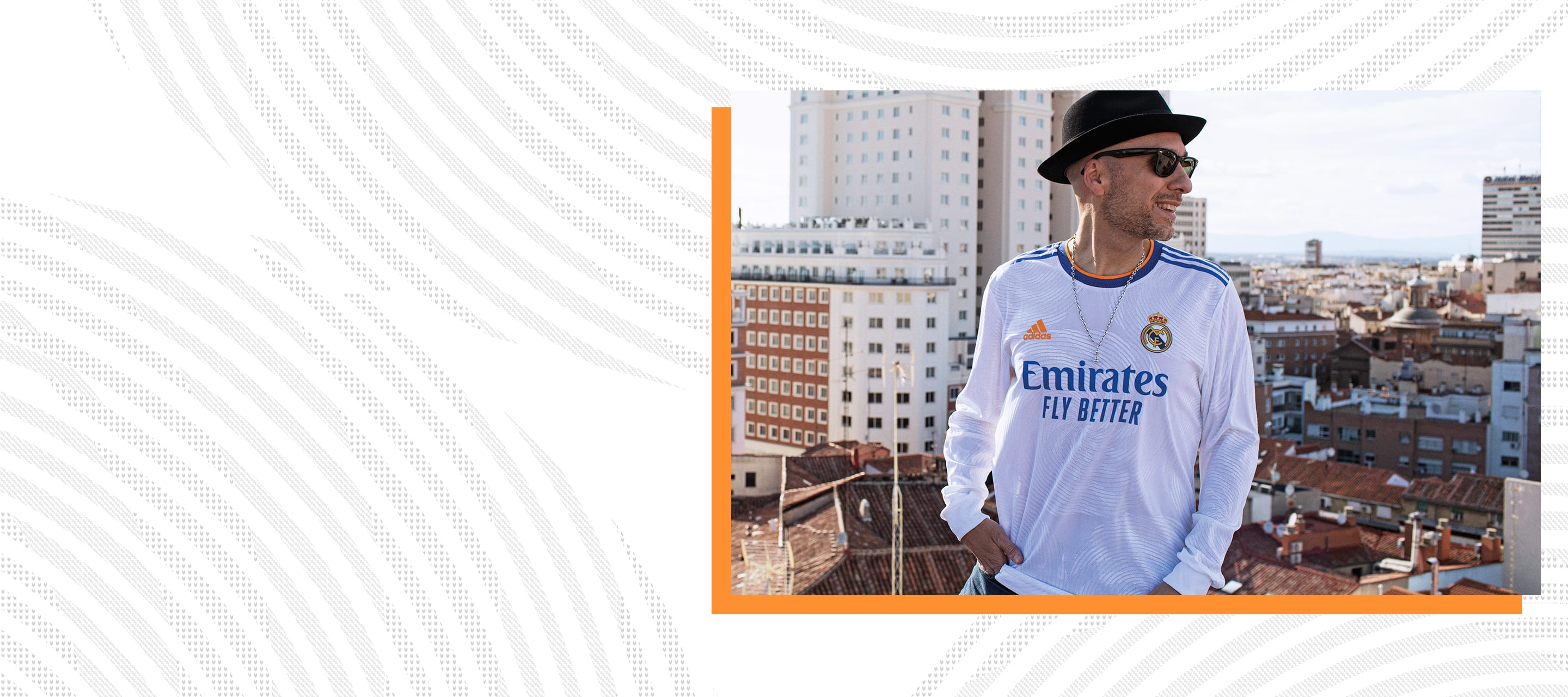 Male creator wearing Real Madrid Home Jersey