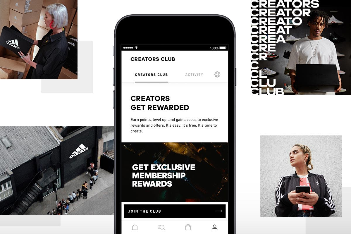 Learn about the adidas apps.