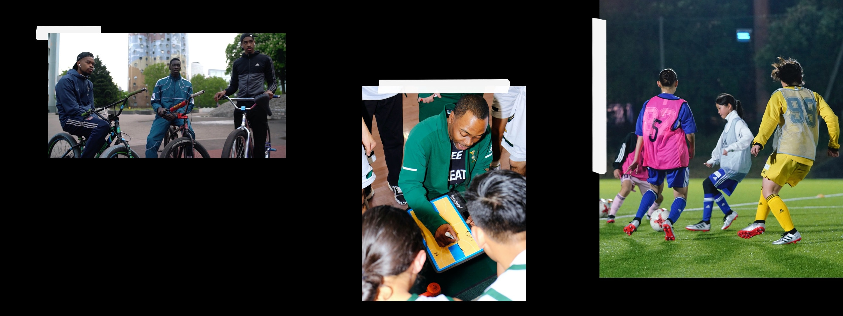 Image showing changemakers taking part in sport in Paris, Los Angeles and Tokyo