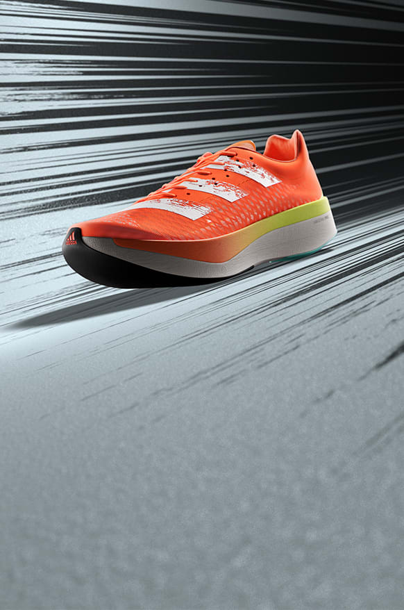 Side view of the new and fast ADIZERO ADIOS PRO