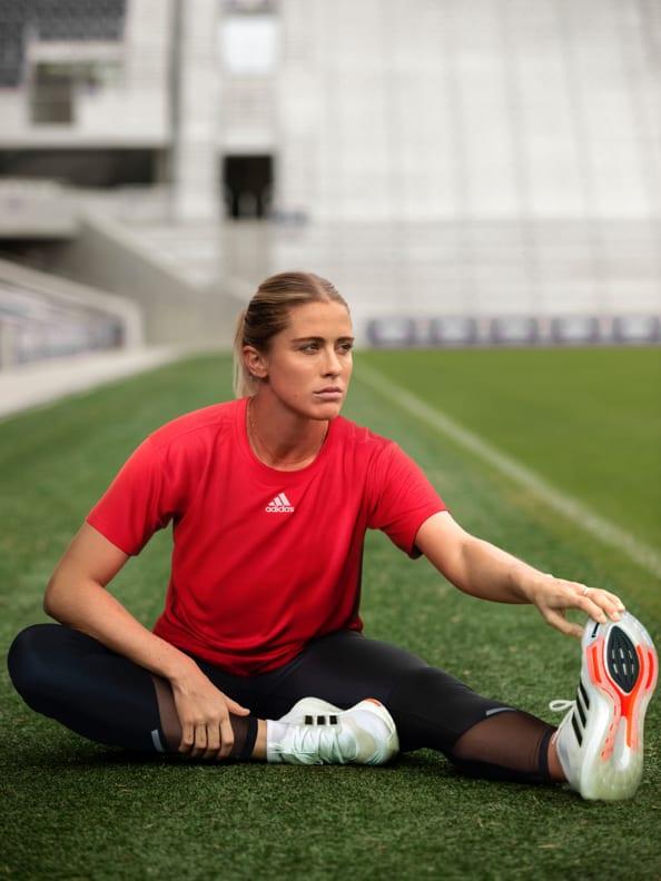 Abby Dahl Kemper wears the adidas Ultraboost 21 shoe