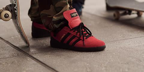 rodrigo tx adidas skateboarding blanche bande rose