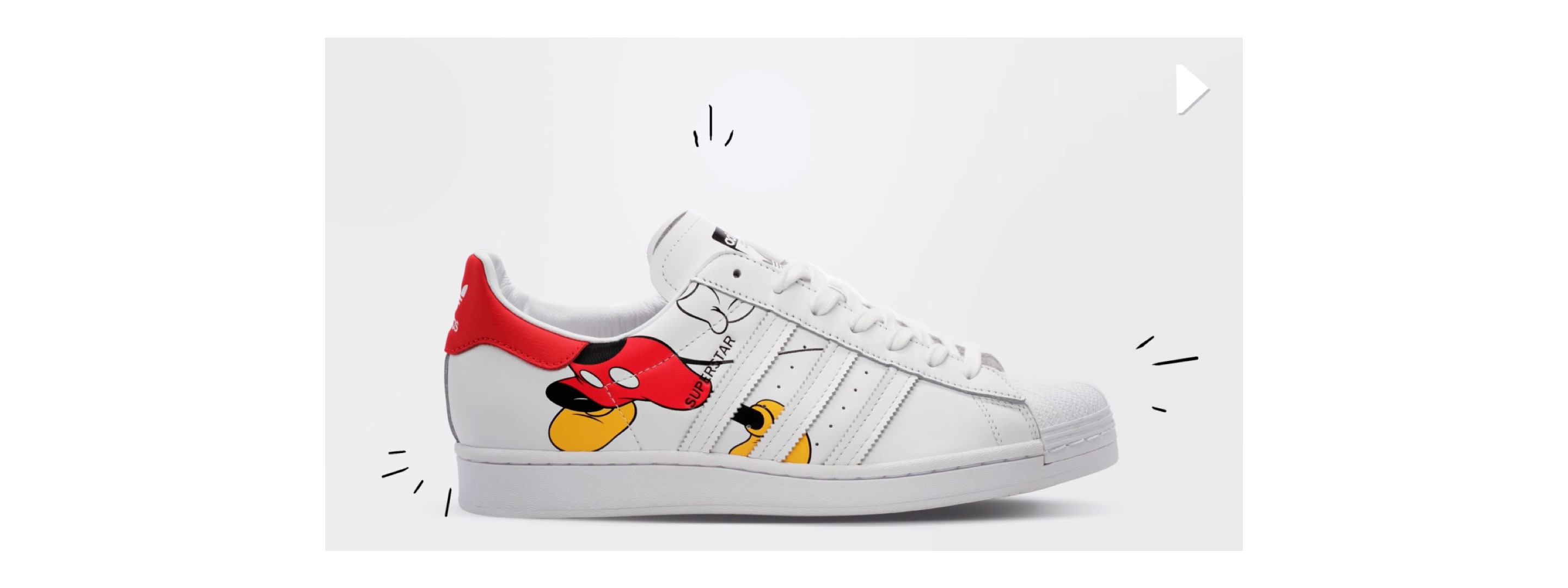Chaussure Disney Mickey Mouse Stan Smith Blanc adidas