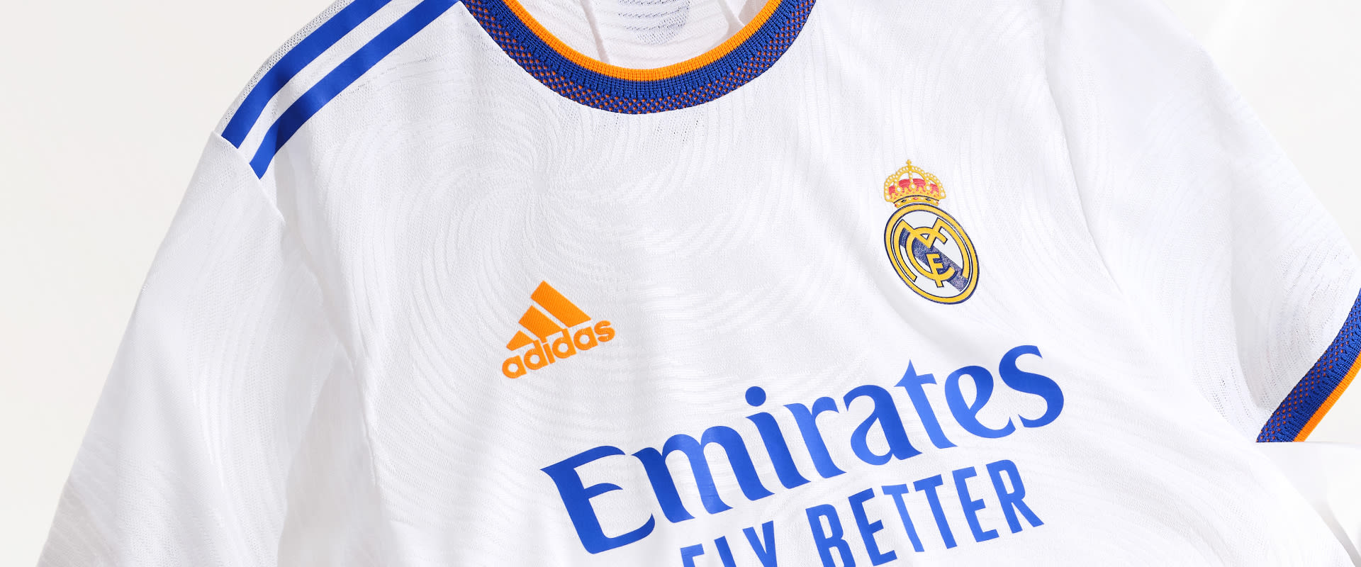Visual featuring the Real Madrid Home Jersey