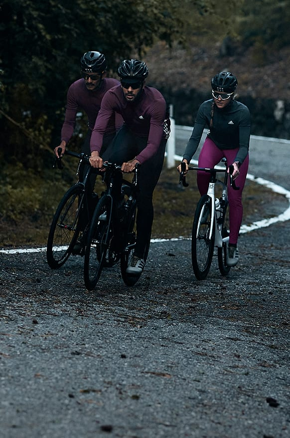 Image of cyclist in the new COLD.RDY adidas Cycling collection