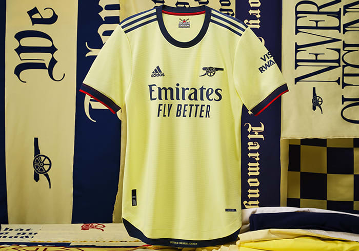 Visual Featuring the Arsenal Away Jersey