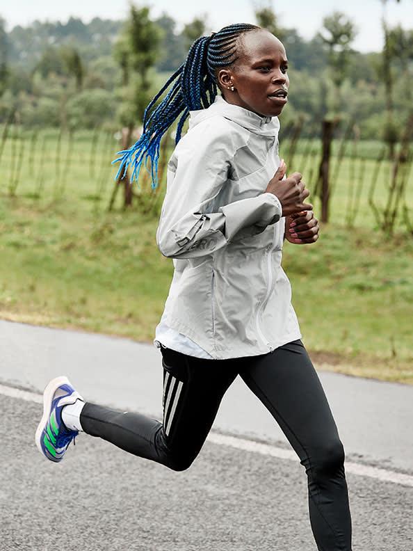 Athlete's running