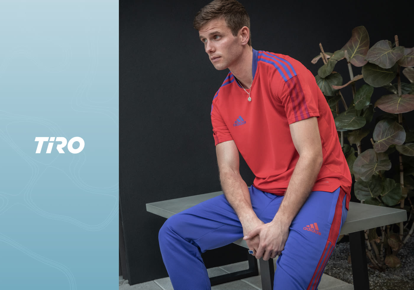 Image showing the key outfits for the Primeblue collection from adidas TIRO. Spring/Summer 21.
