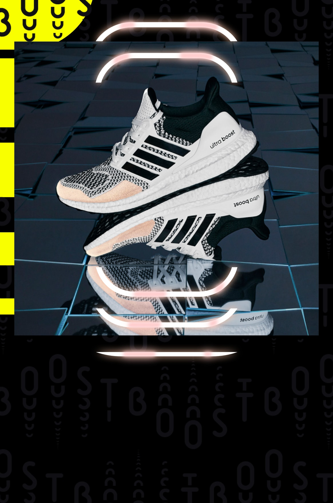 Ultraboost DNA Reflective, performance running, lifestyle shoe, shining in the dark in urban setting
