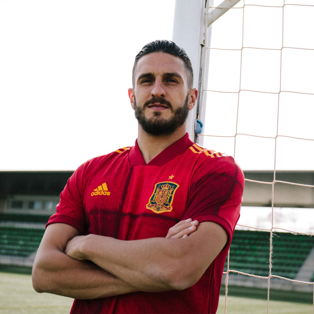 Heren Voetbal Rood Spanje Authentiek Thuisshirt