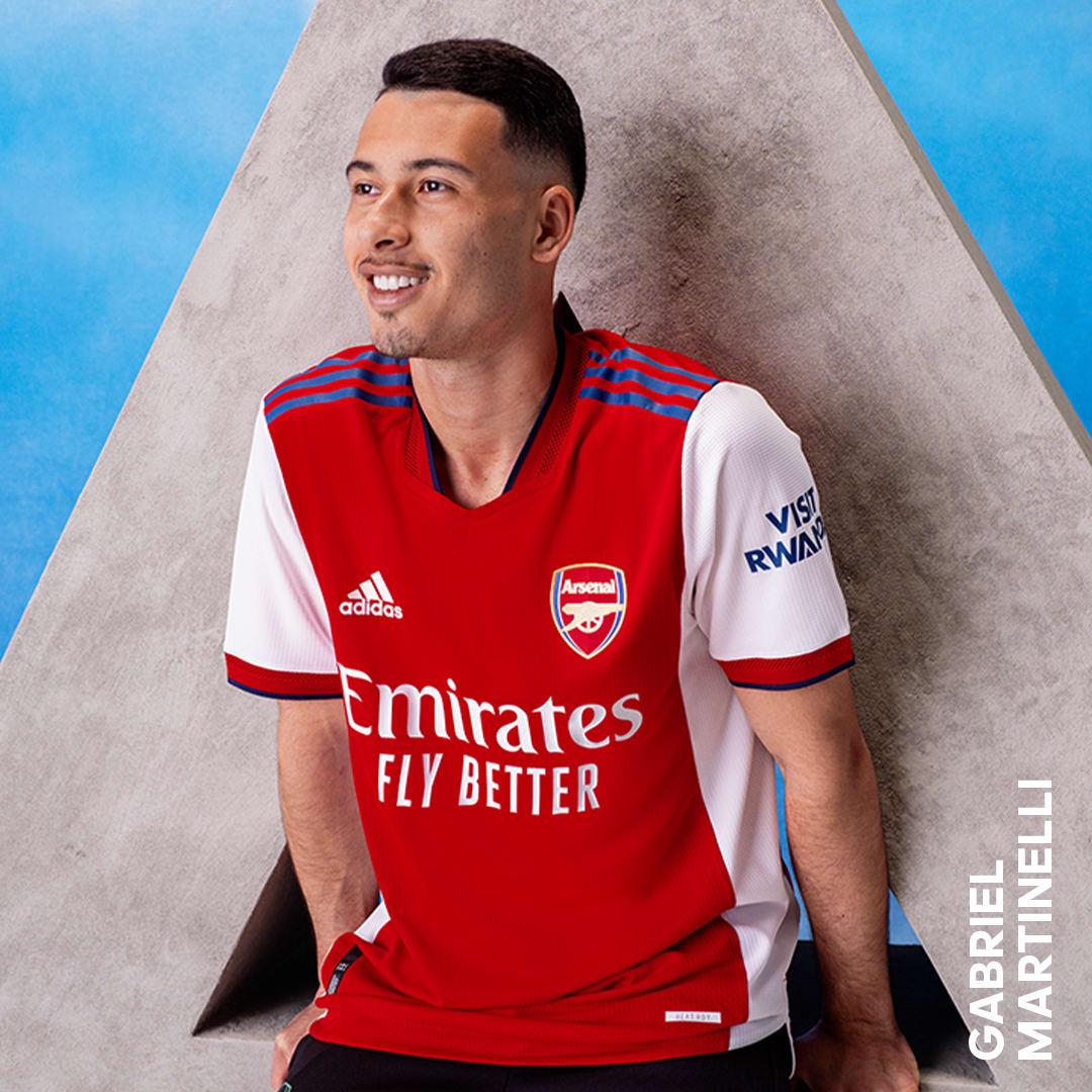 Heren Voetbal Wit Arsenal 21/22 Authentiek Thuisshirt