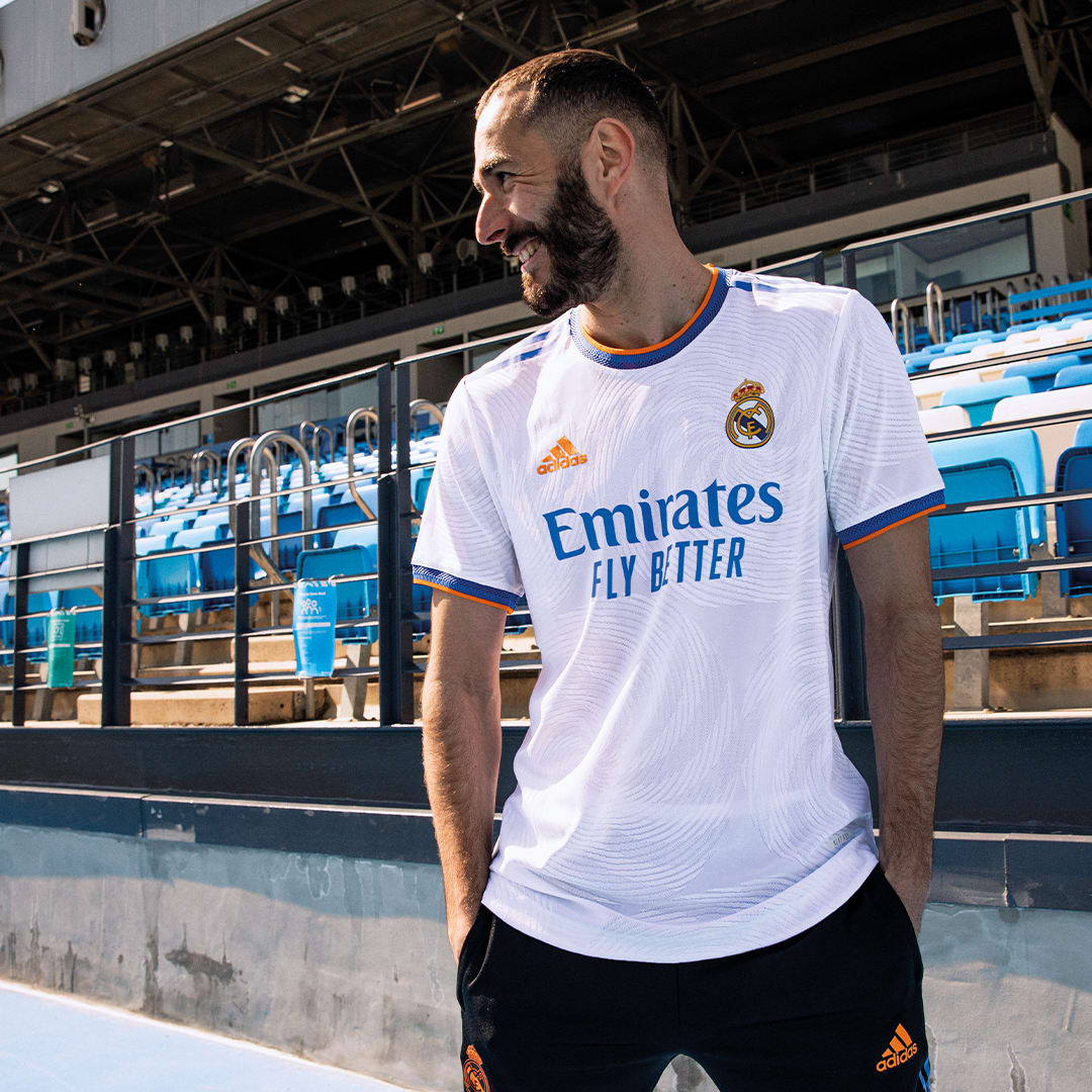 Voetbal Wit Real Madrid 21/22 Authentiek Thuisshirt