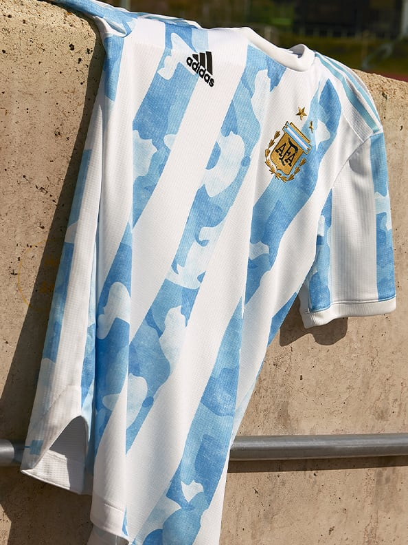 The new Argentina Home Authentic jersey in it's full glory is shown here