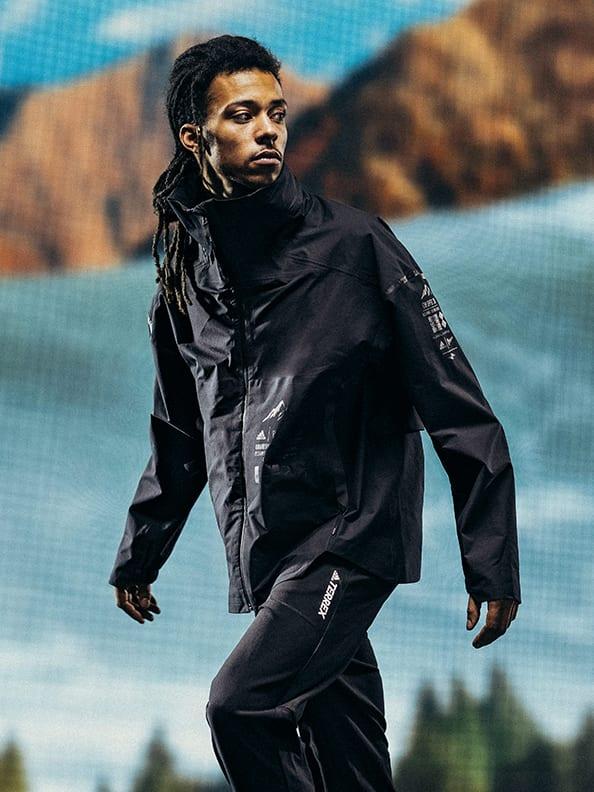 Male model in adidas x Parley apparel