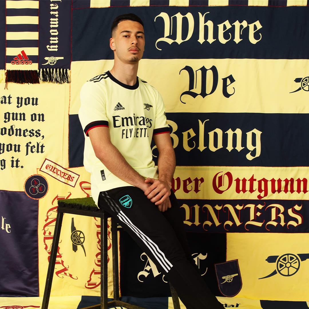 Muži Futbal žltá Dres Arsenal 21/22 Away Authentic