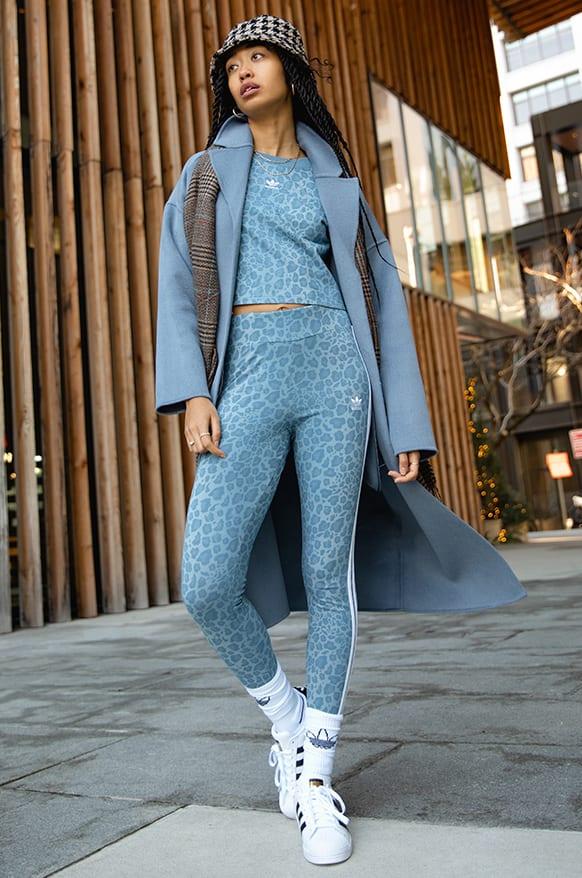 Girl wearing leopard prints.