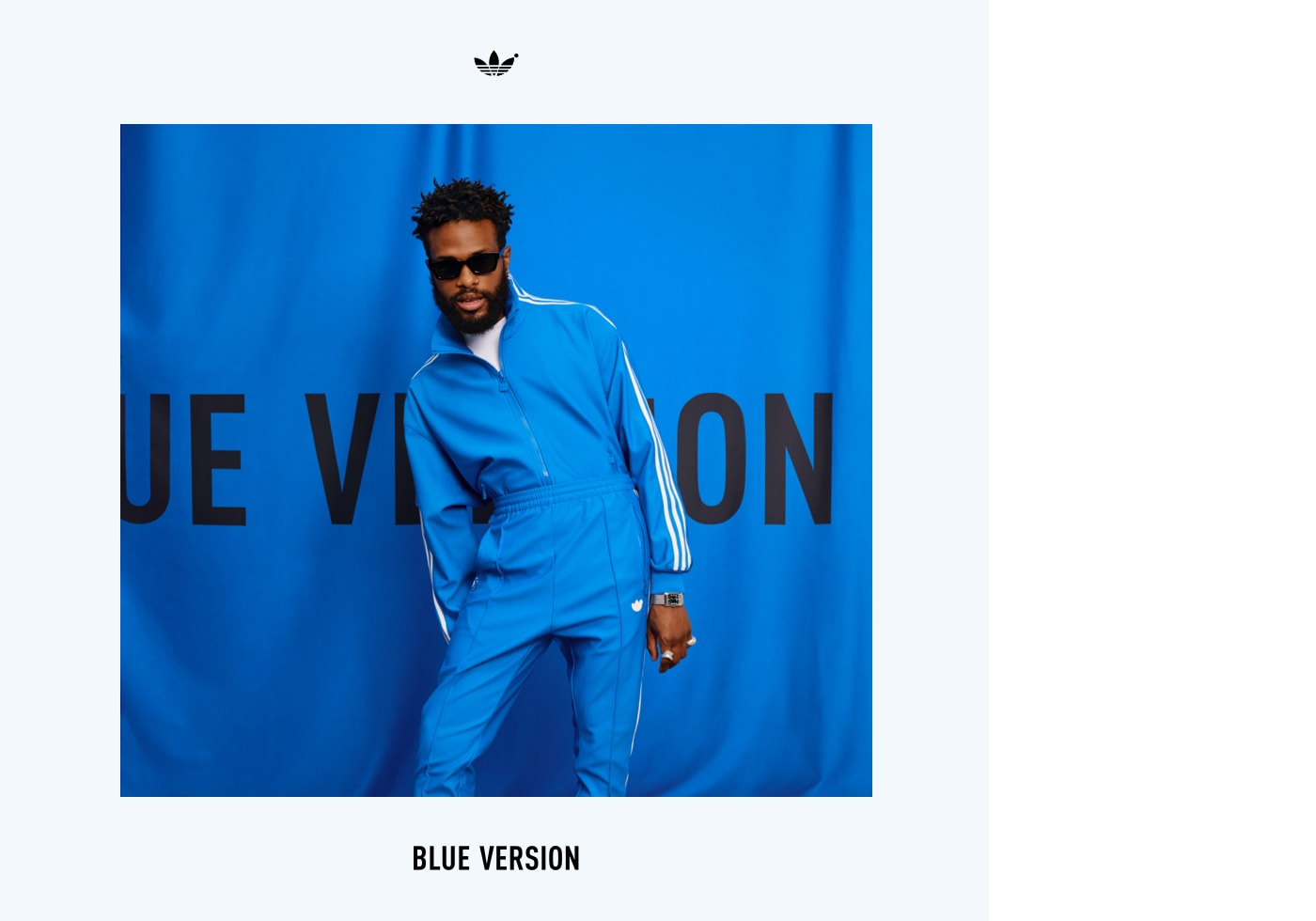Duckwrth is wearing the Blue Version Beckenbauer tracksuit in bluebird.