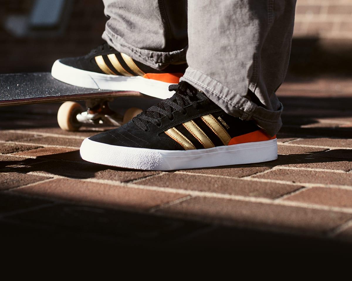 adidas Skateboarding Busenitz   Röd   Skate skor   G27731
